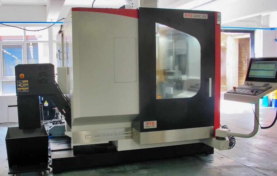The XYZ 5-axis machining centre commissioned in our workshop